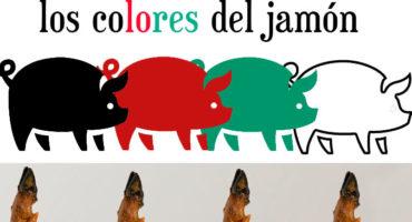etiquetas de colores del jamón ibérico